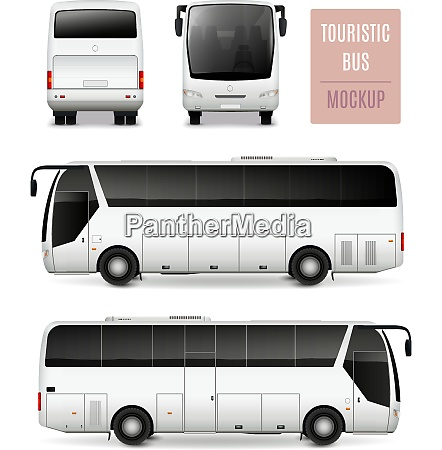 white touristic bus with tinted glass