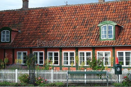 old half timbered house on bornholm