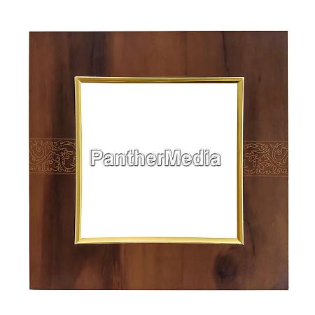 square wooden decorative picture frame