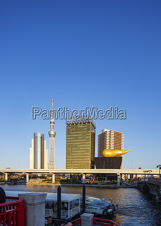 tokyo sky tree tower and asahi