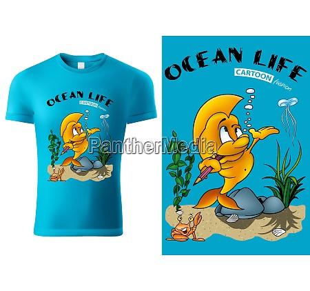 blue child t shirt design with