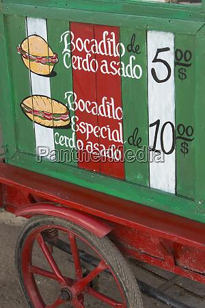 cuba vinales sandwich cart
