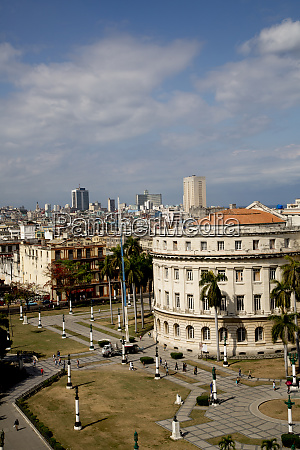 cuba havana colonial buildings viewed from