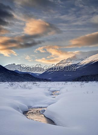 canada alberta banff national park sunset