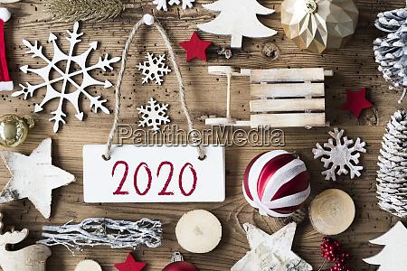 rustic christmas flat lay tekst 2020