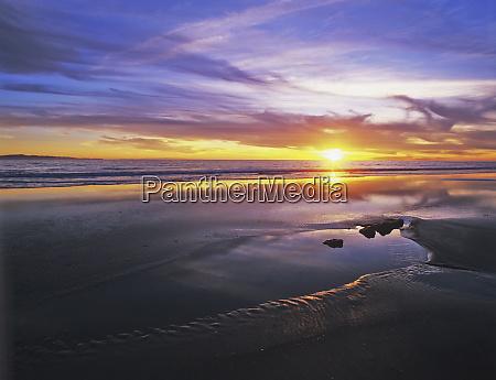usa california santa barbara sunset on