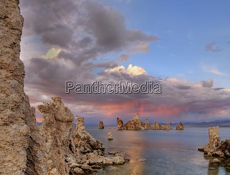 usa california mono lake sunset reflection