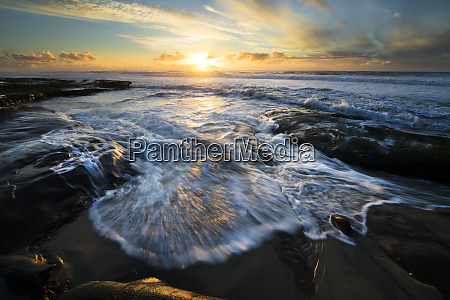usa california la jolla shore waves