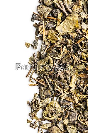 suszone liscie zielonej herbaty