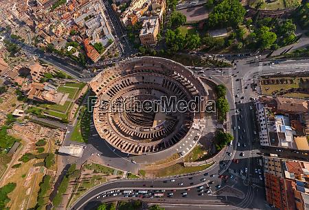 widok z lotu ptaka rzymskiego koloseum