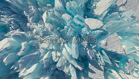 abstract aerial view of baikal lake