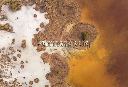abstract aerial view of valgjarv lake