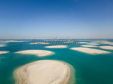 widok z lotu ptaka na wyspy