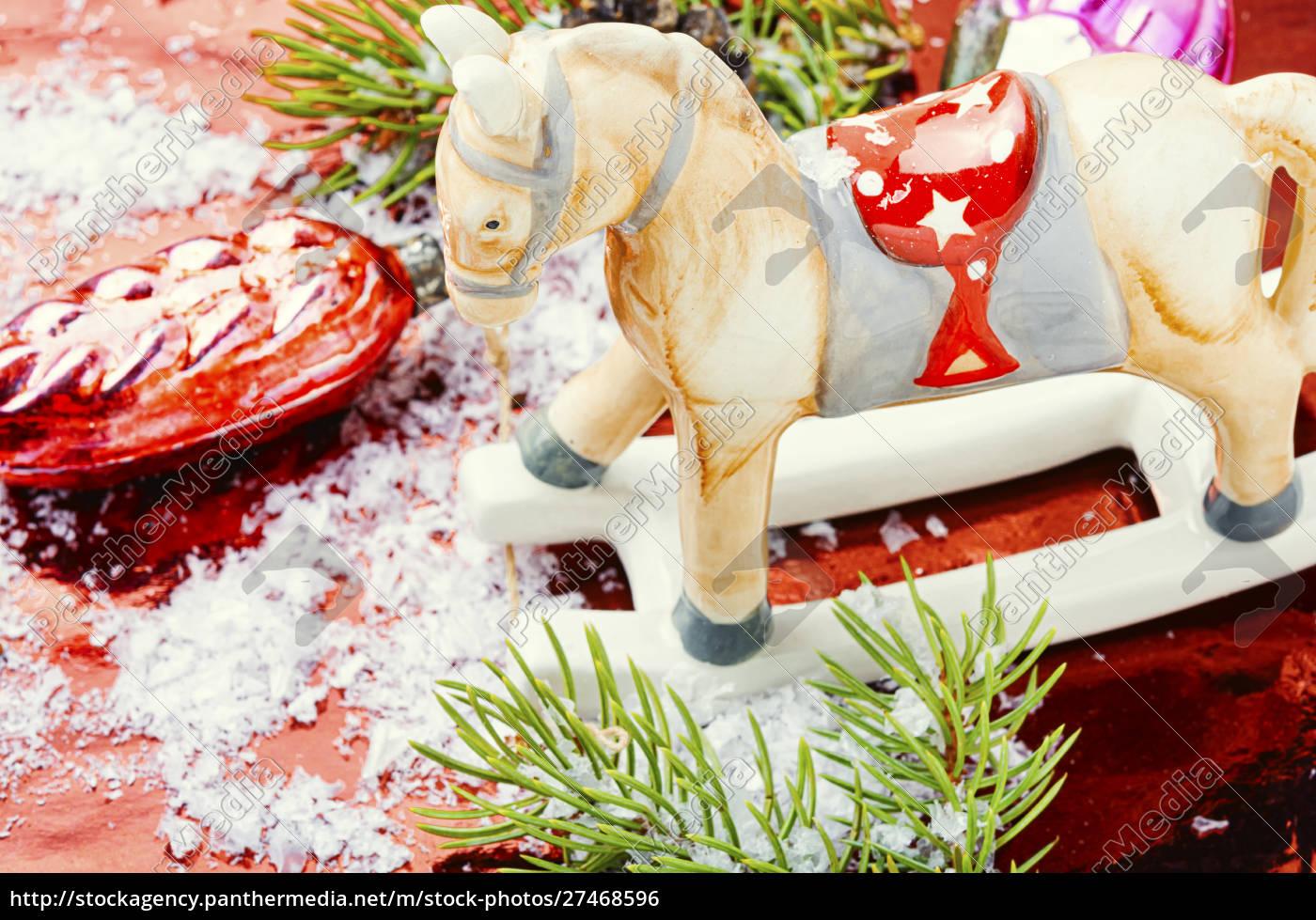 symboliczny, koń, bożonarodzeniowy - 27468596