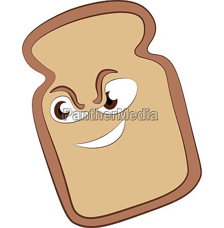 slice bread with eyes vector color
