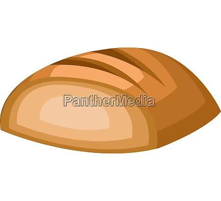 bread slice vector color illustration