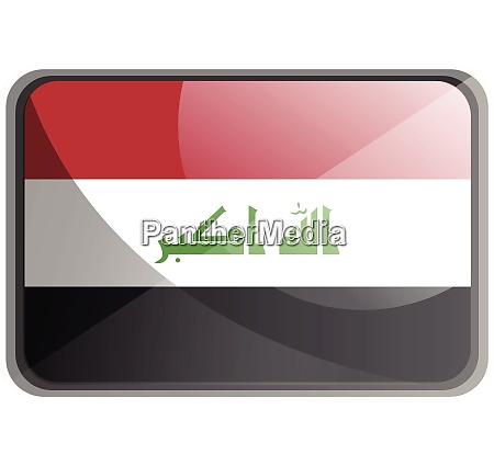 vector illustration of iraq flag on