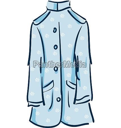 floral coat vector or color illustration