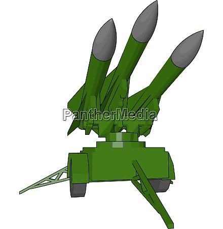 missile a powerful weapon vector or