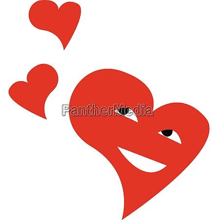 three happy hearts vector or color