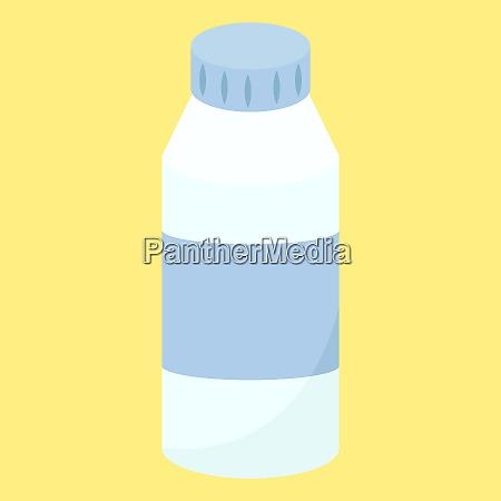milk bottle illustration vector on white