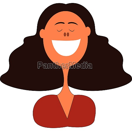 smiling woman illustration vector on white