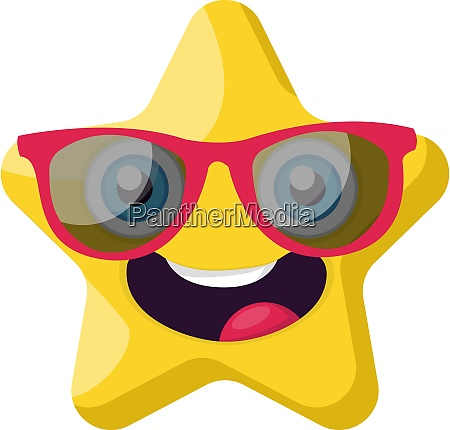 cute yellow star emoji with pink