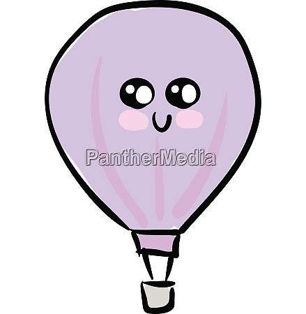 a cute violet parachute vector or
