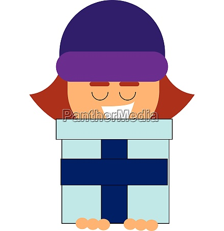 clipart of a small girl holding