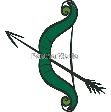 clipart of bow and arrow vector