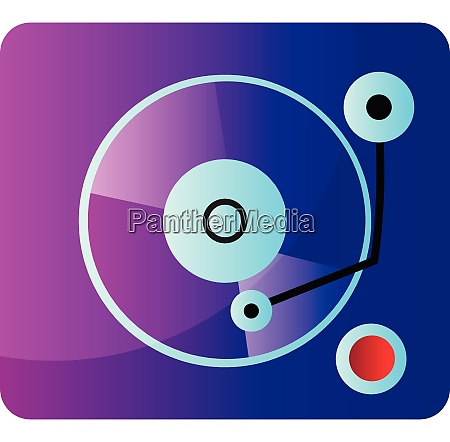 purple and blue music mixete vector