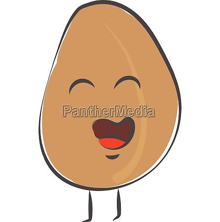 emoji funny happy egg vector or