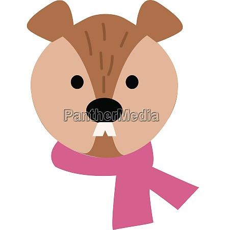 beaver hand drawn design illustration vector
