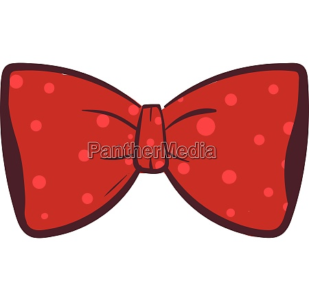 clipart of a red bow vector