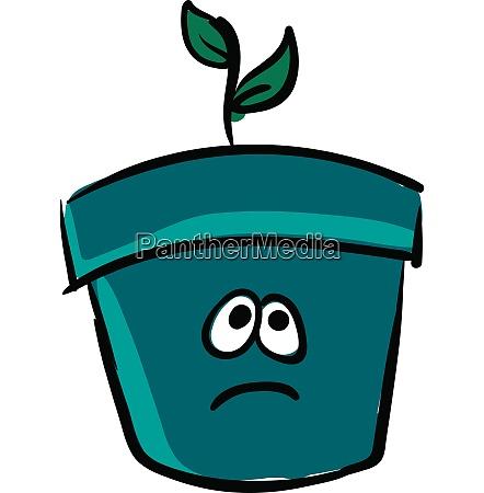emoji of a sad flower pot