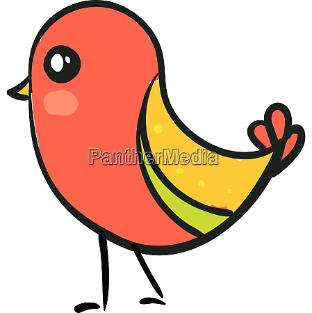 cute bird vector or color illustration