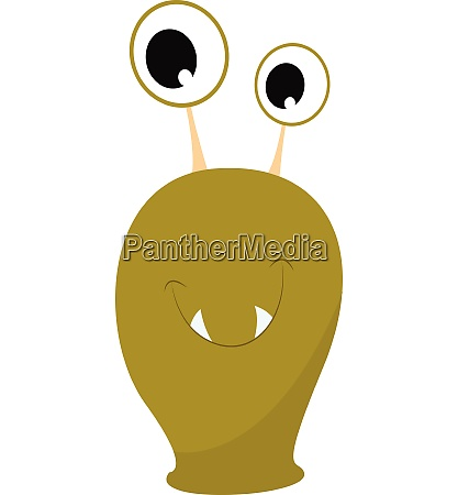 monster with 2 eyes vector or