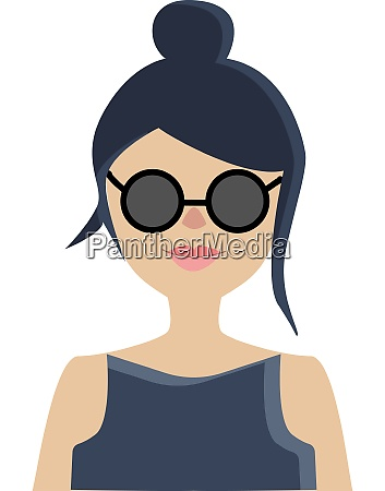 a girl with sun glasses vector