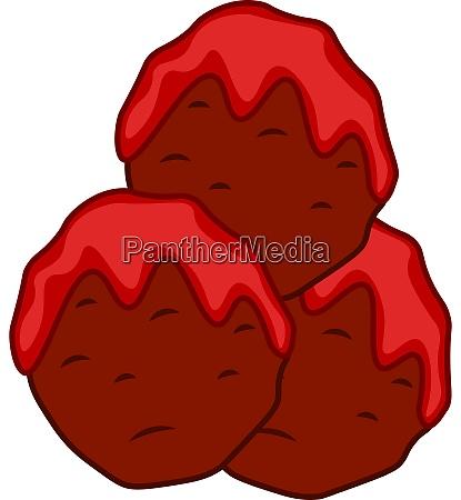 a meatballs with a sauce vector