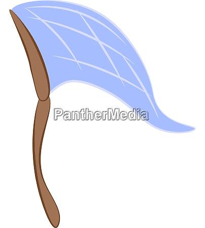 a blue net catcher vector or
