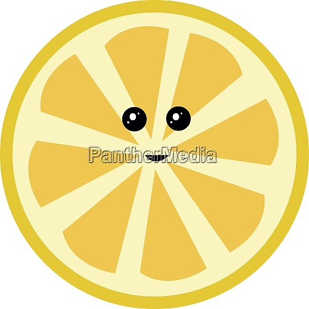 cute lemon illustration vector on white
