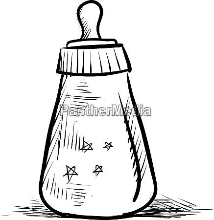 baby bottle illustration vector on white