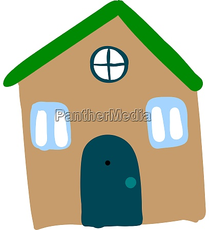 house drawing illustration vector on white