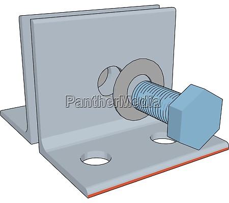 white lever illustration vector on white