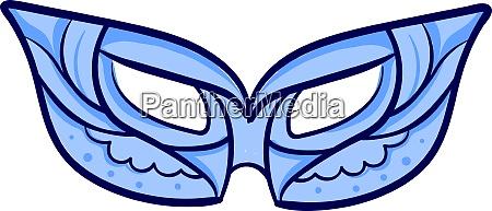 blue mask illustration vector on white