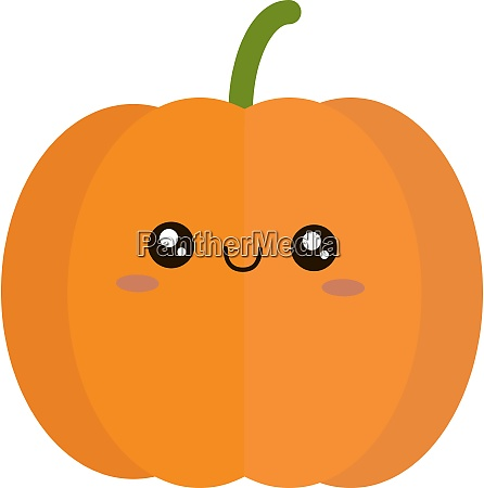 cute pumpkin illustration vector on white