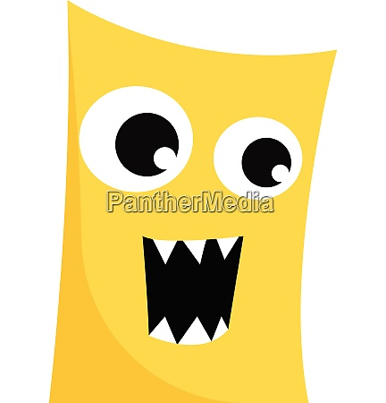 clipart of a ferocious yellow monster