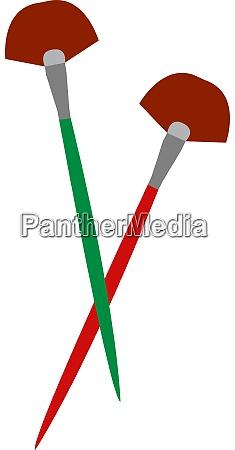 fan brush illustration vector on white