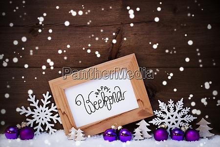 rama fioletowy ball drzewo Snieg platki