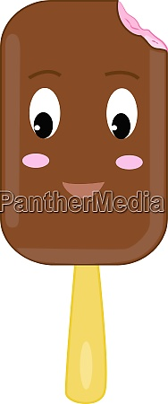 cute ice cream illustration vector on